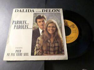 DALIDA-DELON-VINYLE-45-TOURS-PAROLES-PAROLES-VINYL-VINTAGE