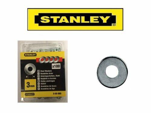 d = 3 mm 0-69-860 Job Lot: 8 packs de STANLEY Acier Rondelles 100 Per Pack