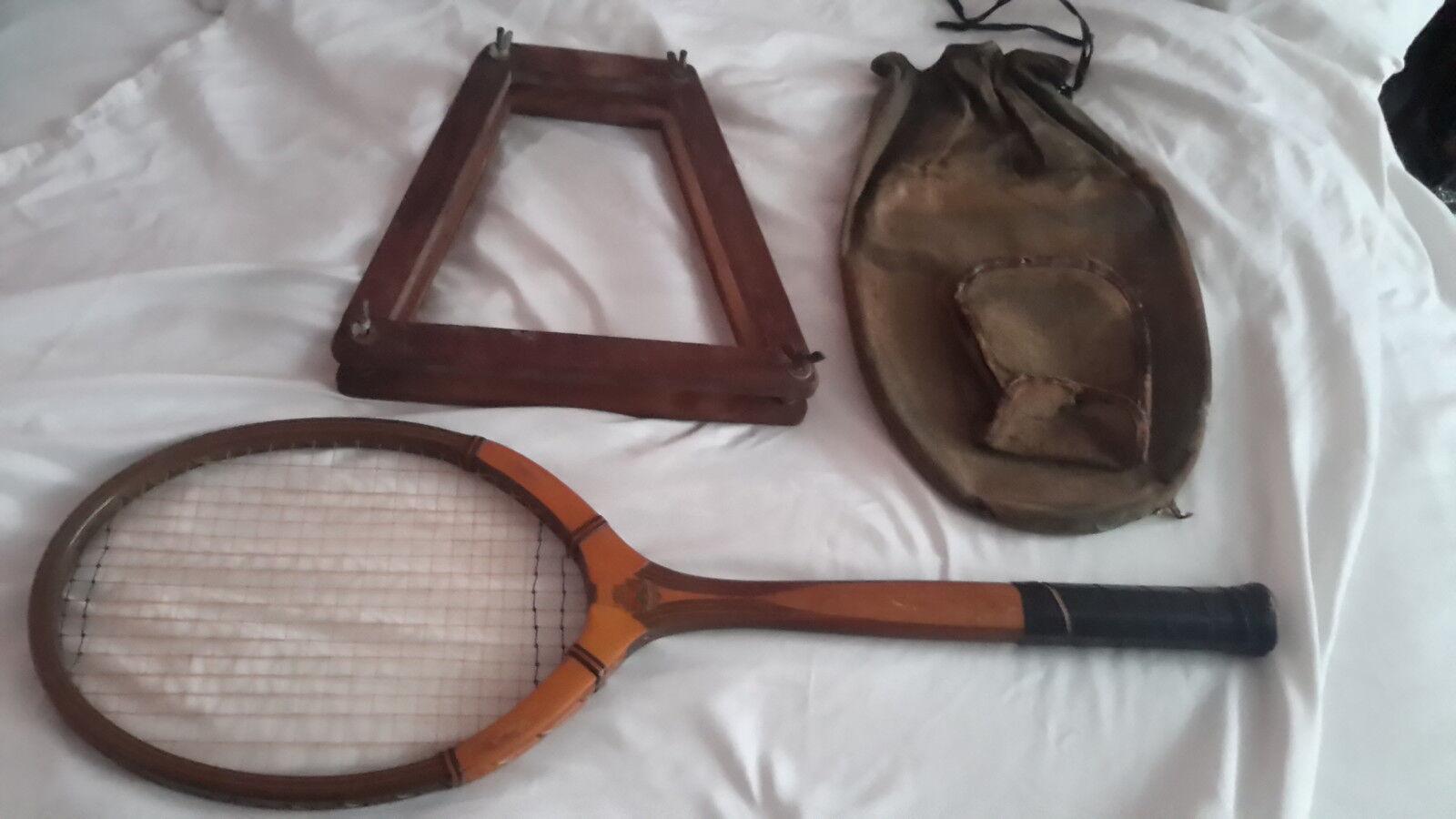 Vintage Cortland Tennis Racquet  Challenger' Kovrpres Cover & Press