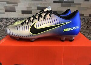 e5a249a0b Nike Mercurial Victory VI NJR FG Blue Chrome Volt 921509-407 Men s ...