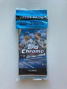 2020-Topps-Chrome-Baseball-Value-Pack-CELLO-3-Packs-5-Parallels-ea-LOT-of-5