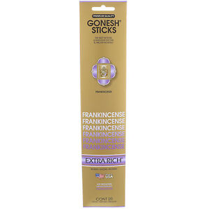 9x-Packs-Gonesh-Classic-Incense-Sticks-Extra-Rich-Frankincense-20-Stick-Count