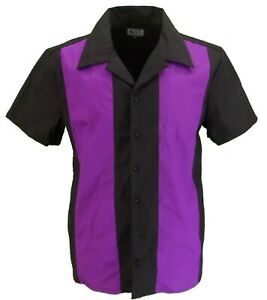 Retro-Purpleblack-Rockabilly-BOLOS-CAMISAS