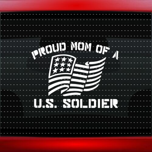Proud Army Mom #1 Car Decal Window Vinyl Sticker Military Soldier USA 20 COLORS!