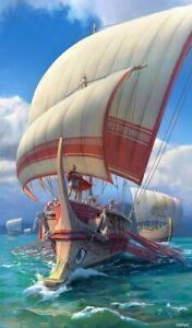 PLAQUE MÉTAL    bateau Grèce antique 30 X 20 CM