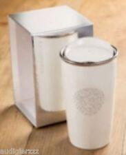 LE Starbucks 12oz White Ceramic Double Wall Mug Adorned with Swarovski® Crystals