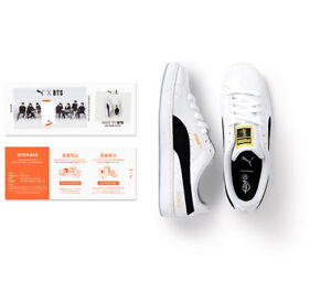 newest 5741f f9f52 Details about BTS PUMA Basket Patent Made by BTS with Fan Meeting Photo  Ticket Standard Ship