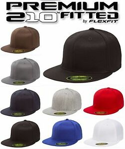 fc9cf6d516c Yupoong Premium Flexfit 6210 Premium 210 Fitted Hat Plain Blank Cap ...