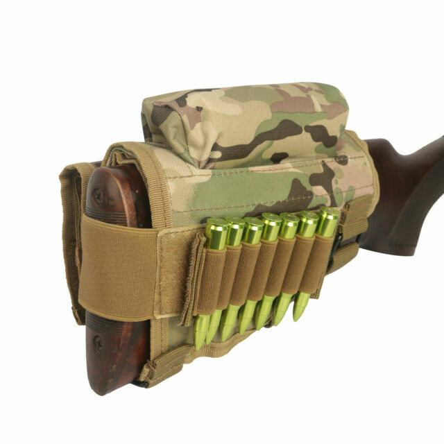 Tourbon Buttstock Cheek Riser w//Ammo Carry Cartridge Pouch Military Camo Hunting