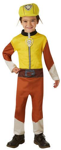 Paw Patrol Rubble Boys Fancy Dress Cartoon Book Day Dog Kids Childrens Costume