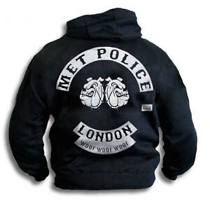 Mens-Hoodie-Met-Police-Bent-Coppers-London-Biker-Patch-Free-T-shirt-Sm-2XL