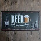 Metal Tin sign brewery beer Decor Bar Pub Home Vintage Retro Poster Cafe ART