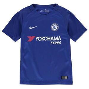 cea558fa6d75c La imagen se está cargando Nike-Chelsea-Camisa -Casa-2017-2018-Talla-Infantil-