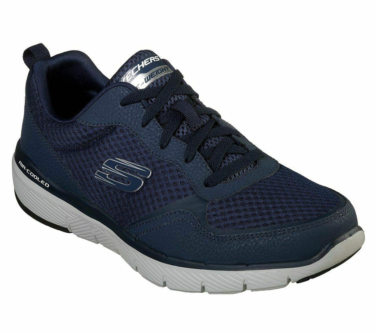 Hombre Skechers Zapatillas Lite Peso Azul Marino Flex Ventaja