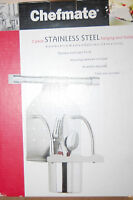 Chefmate 2 Piece Stainless Steel Hanging Tool Holder