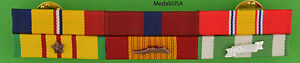Marine-Corps-Combat-Action-Good-Conduct-Vietnam-War-Mounted-6-Ribbon-Bar-USMC