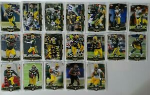 2014-Topps-Green-Bay-Packers-Team-Set-of-19-Football-Cards-Davante-Adams-RC
