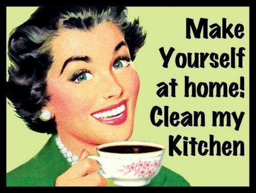 garage Clean the Kitchen  Retro Tin Sign bathroom Kitchen Decor
