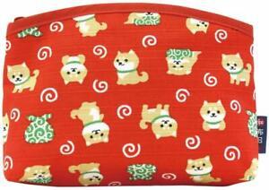 Zipper Japanese Lucky Dog Small Bag