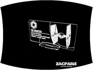 etc Acrylic! DISPLAY PLAQUE for Lego 75095 75154 9492 7263 TIE Fighter Models
