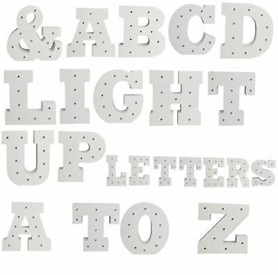 100% Waar Led Wooden Letters Alphabet Sign Numbers Light Up Wood Decorative White Standing