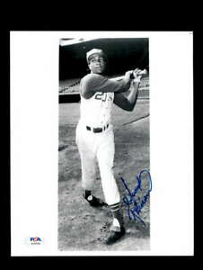Frank Robinson PSA DNA Coa Hand Signed 8x10 Photo Reds Autograph