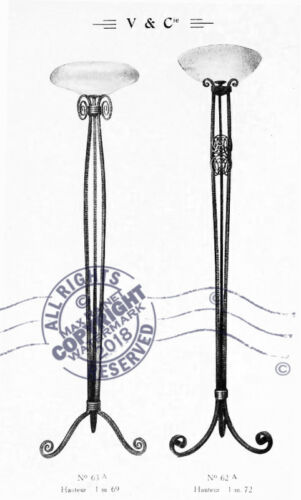 Vasseur /& Cie 1924 Fer Forge CATALOG French Art Lamps Wrought Iron Fixtures Deco