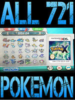 GENUINE POKEMON X WITH ALL 721 SHINY POKEMON ALL ITEMS NINTENDO 3DS / 2DS Y