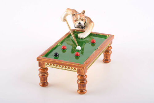 Keren Kopal /& crystals Dogs playing snooker trinket box LIMITED EDITION