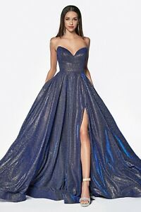 18248ae2d8 Image is loading Cinderella-Divine-CJ522-Evening-Dress-Prom-Dress-Strapless-