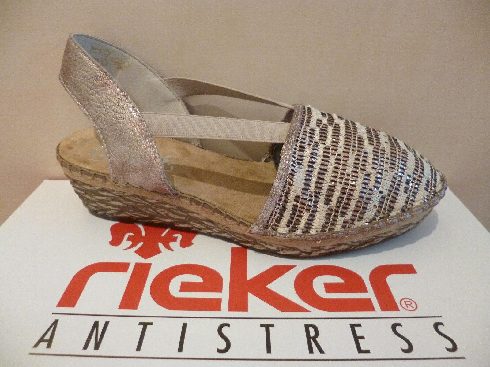 Rieker Damen Sling Sandale Sandalette Keilabsatz  NEU