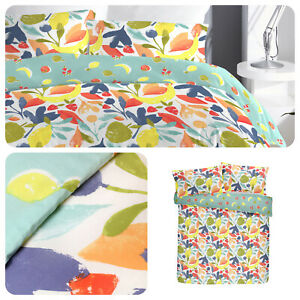 Fusion-FUN-FRUITS-Duvet-Cover-Set-Reversible-Bedding-Easy-Care-Multicolour-Quilt