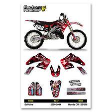 2000-2001 HONDA CR 125 250 Solitaire Motocross Graphics DIRT BIKE GRAPHICS KIT
