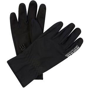 Herren-Regatta-Xert-Softshell-Stretch-Handschuhe-Schwarz-RMG010