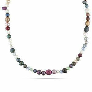 Amour 5-8 mm Multi-Color Cultured Freshwater Pearl Endless Necklace Strand 36