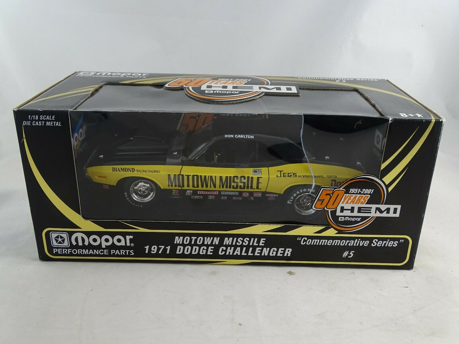 1 18 Ertl 29232P Conmemorativo Series Dodge Challenger Motown Misiles