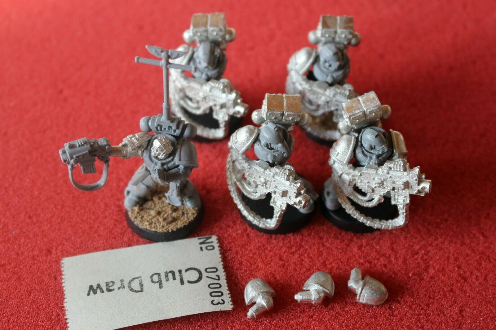 Games Workshop Warhammer 40k Space Marines Marine Devastators Heavy Bolters OOP