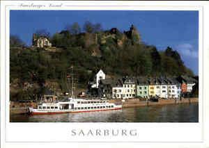 Schiffe-Binnenschiffe-Echtfoto-AK-Ship-Schiff-Anlegestelle-in-Saarburg-Saar