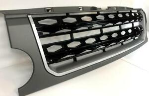 Land-Rover-Discovery-3-Grille-LR3-with-Disco-4-Mesh-style-Grey-amp-Black-Mesh