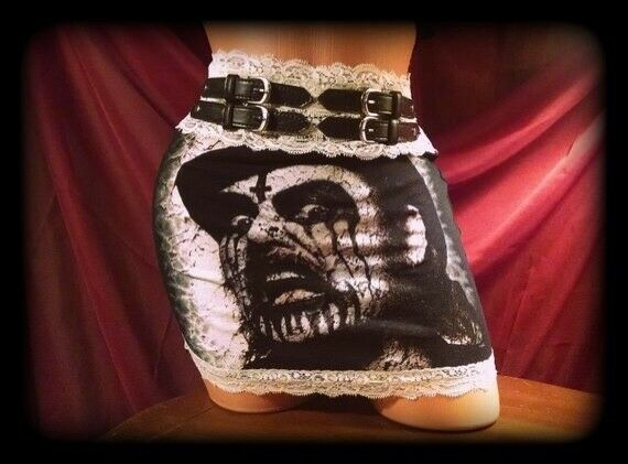 King Diamond Mini Skirt Lace Sexy Metal Horror Occult Mercyful Fate Goth Punk