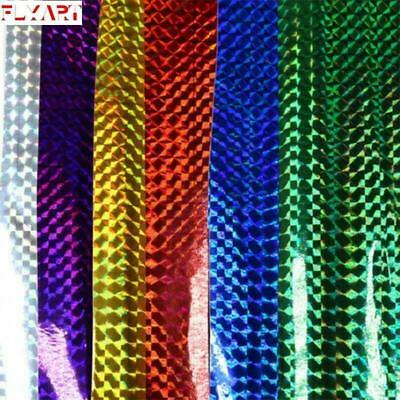 3colors Fly Tying Laser Rainbow Film Holographic Adhesive Film Flash Tape