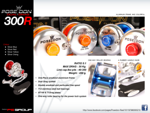 Poseidon 300 Right Left Dual  Drag Fishing Reel (Single Speed)  support wholesale retail