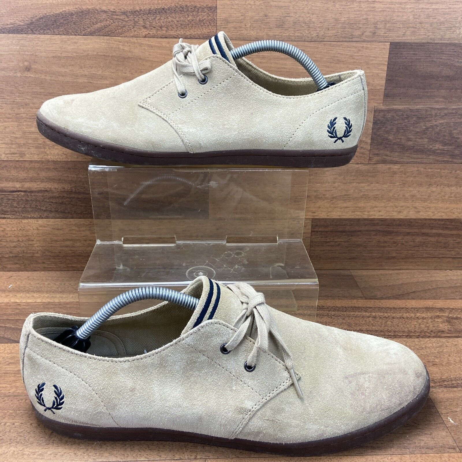 Fred Perry Size UK 10 Beige Suede Fred Perry Mens Shoes