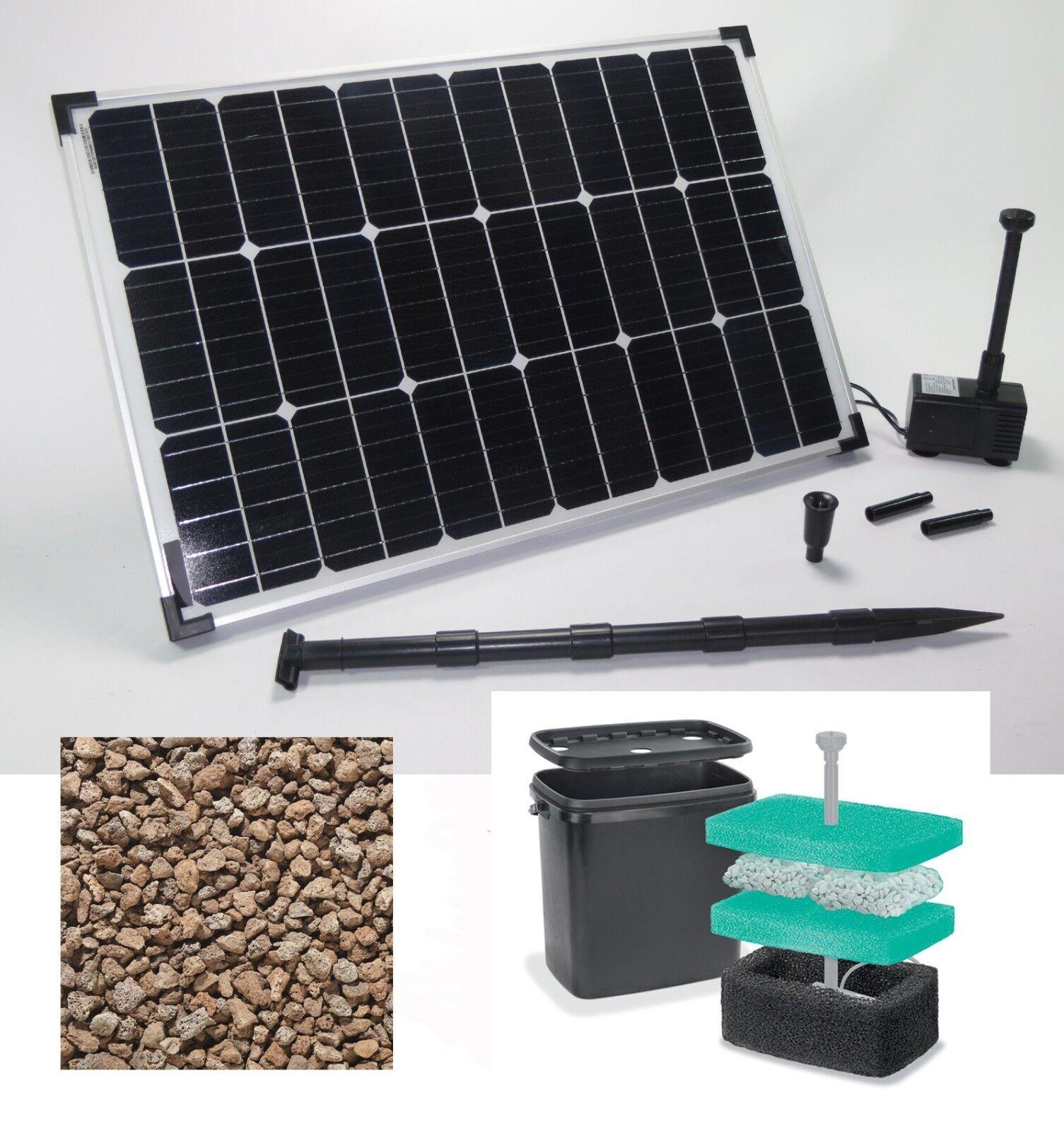 60 W bomba solar bomba estanque de jardín bomba estanque solar Bach corre bomba pumpenset filtro