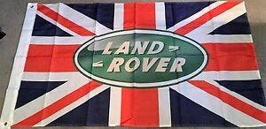 LAND-ROVER-UNION-JACK-HUGE-Flag-Classic-car-show-Man-Cave-Garage-Shed