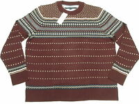 $119 Mens Tommy Hilfiger Omar Fair Isle Pima Wool Sweater Sz 2xl 2xb 2x M488