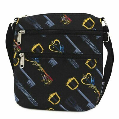 Loungefly Kingdom Hearts Keys All Over Print Nylon Passport Bag Purse