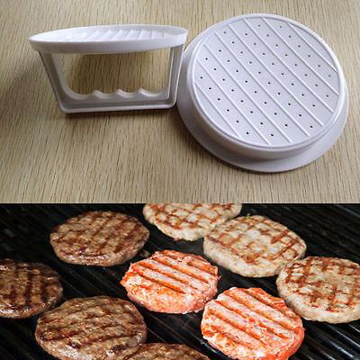 Plastic Burger Press Hamburger Meat Beef Grill BBQ Maker Mould Cooking