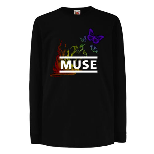 Muse 5 Logo Rock Metal unisex manica corta//manica lunga Bambini//Kid//Teenage Black T-shirt