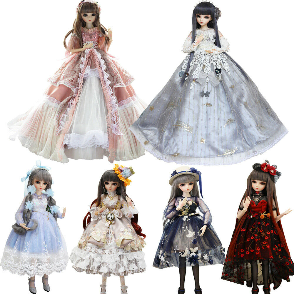 1 3 BJD Doll 18 Ball Jointed Dolls + Removable Eyes Clothes Wigs schuhe Full Set